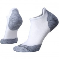 Smartwool Phd Run Light Elite Micro Socks In White/Light Gray Wool/Nylon
