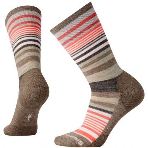 Smartwool Jovian Stripe Socks In Chestnut Heather Wool/Nylon
