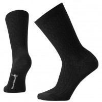 Smartwool Cable Ii Socks In Black Wool/Nyon