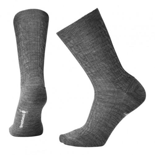 Smartwool Cable Ii Socks In Medium Gray Wool/Nylon