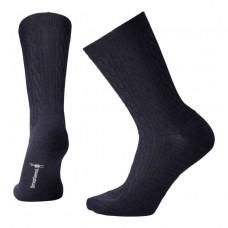 Smartwool Cable Ii Socks In Deep Navy Heather Wool/Nylon