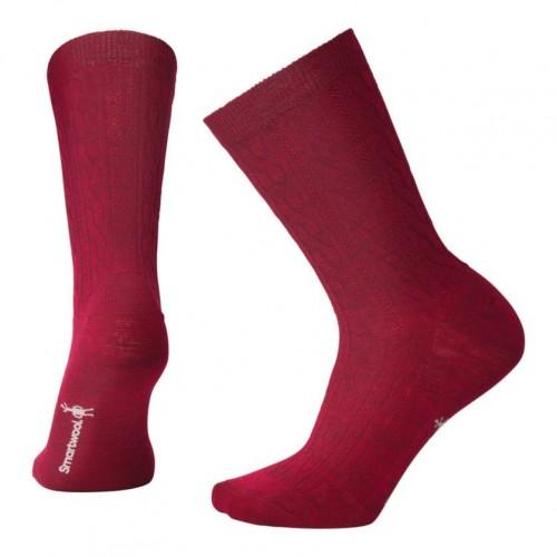 Smartwool Cable Ii Socks In Tibetan Red Heather Wool/Nylon