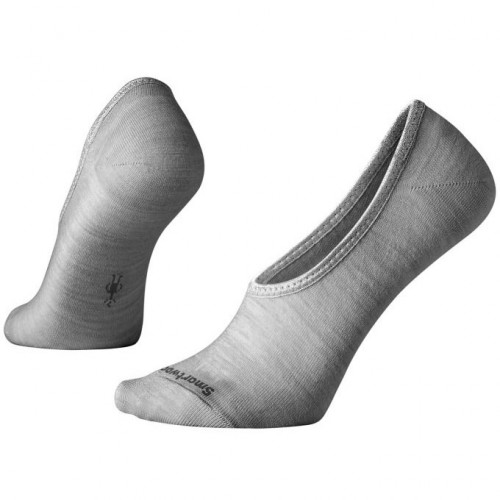 Smartwool Hide And Seek No Show Socks In Light Grey Heather Wool/Nylon