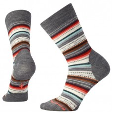 Smartwool Margarita Socks In Medium Grey Heather/Bright Coral Wool/Nylon