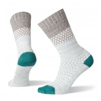 Smartwool Popcorn Cable Socks In Light Gray Wool/Nylon