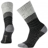 Smartwool Popcorn Cable Socks In Winter White Donegal Wool/Nylon