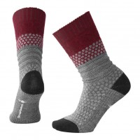 Smartwool Popcorn Cable Socks In Tibetan Red Heather Wool/Nylon