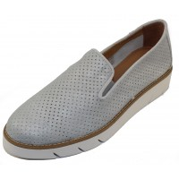 The Flexx Women's Daily In Silver San Remo Perforated Metallic Leather