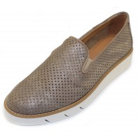The Flexx Women's Daily In Taupe San Remo Perforated Metallic Leather