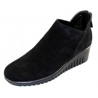 The Flexx Women's Milky Way In Black Waterproof Suede