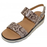 The Flexx Women's Mod In Teak Jack Embossed Snake Printed Leather