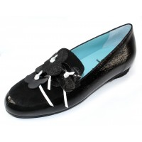 Thierry Rabotin Women's Columbine In Pot/Link/Black Crinkle Patent Leather/Suede