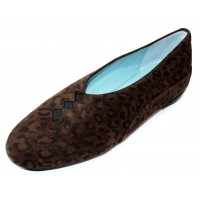 Thierry Rabotin Women's Grace In Dark Leopard Printed Suede 8017