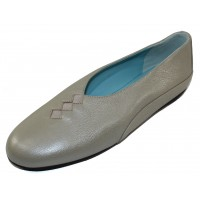 Thierry Rabotin Women's Grace In Greenish Silver Pearlized Grain Leather