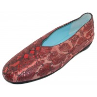 Thierry Rabotin Women's Grace In Red Africa Printed Leather