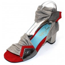 Thierry Rabotin Women's Lisianthus In Red/Brushed Pewter Suede