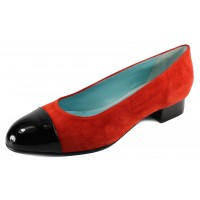 Thierry Rabotin Women's Nene In Red Suede/Black Patent Leather