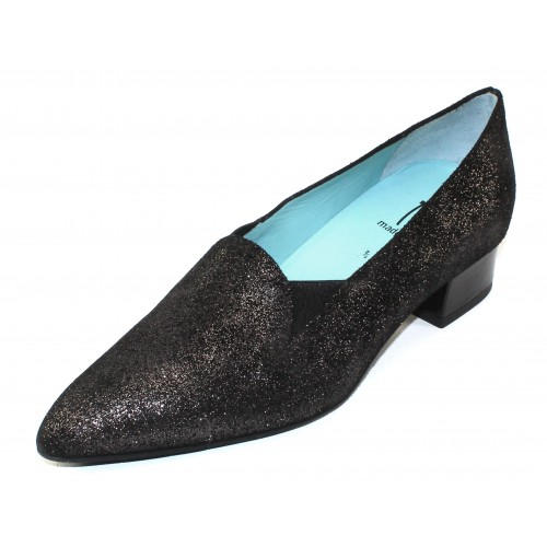 Thierry Rabotin Women's Plano In Black Raypot Embossed Sparkle Suede