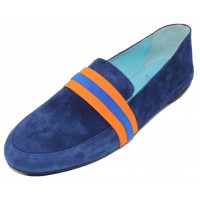Thierry Rabotin Women's Tempio In Blue Suede/Multi Elastic