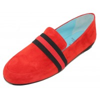 Thierry Rabotin Women's Tempio In Red Suede/Multi Elastic