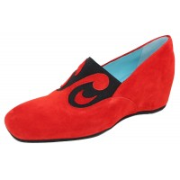 Thierry Rabotin Women's Tonia In Red Suede/Elastic