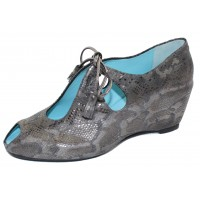 Thierry Rabotin Women's Zayne In Pewter Africa Printed Leather