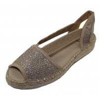 Toni Pons Women's Estel-S In Platinum Shimmer Fabric