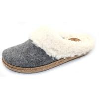 Toni Pons Women's Miri-Bf In Grey Fabric/Beige Faux Fur