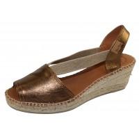 Toni Pons Women's Teide-P In Bronze Metallic Leather