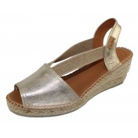 Toni Pons Women's Teide-P In Platinum Metallic Leather
