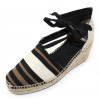 Toni Pons Women's Viana In Black Multi Stripe Fabric