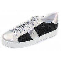 Vaddia Women's Alec In Silver Cheetah Embossed Leather/Silver Leather