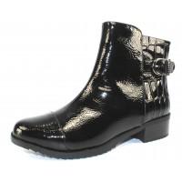 Valdini Women's Mia Waterproof In Black Waterproof Crinkle Pu/Croco