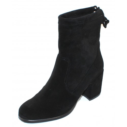 Valdini Women's Regan Waterproof In Black Suede/Stretch Suede