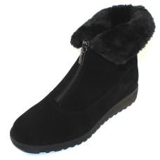 Valdini Women's Sabra Waterproof In Black Suede/Shearling
