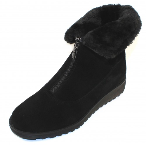 Valdini Women's Sabra Waterproof In Black Suede/Shearling