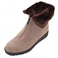 Valdini Women's Sabra Waterproof In Taupe Suede/Shearling