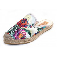 Vidorreta Women's Ibiza 15900 In Gris Grey Metallic Korella Embossed Floral Design Fabric