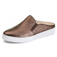 Vionic Women's Dakota Metallic Mule In Bronze Leather
