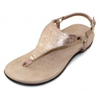 Vionic Women's Kirra Metallic In Rose Gold Metallic Leather