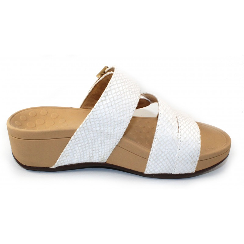 3f885fff91bb Vionic Women s Rio In White Snake Embossed Synthetic Leather