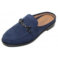 Vionic Women's Salie In Navy Blue Nubuck Leather