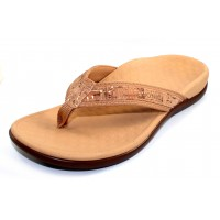 Vionic Women's Tide Ii In Gold Natural Cork/Fabric