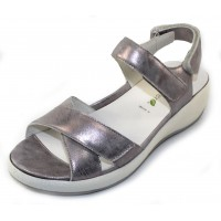 Waldlaufer Women's Angie 973002 In Gray Foil Metallic Leather
