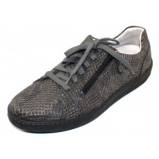 Waldlaufer Women's Maria 921002 In Grey Boa Embossed Leather