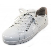 Waldlaufer Women's Maria 921002 In White Patent Leather/Rose Gold Pearlized Leather