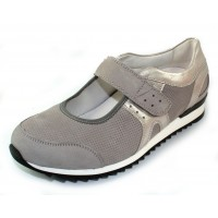 Waldlaufer Women's Orla 370303 In Light Grey Nubuck