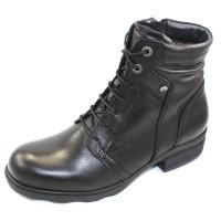 Wolky Women's Center Wp In Black Waterproof Leather
