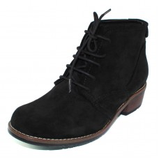 Wolky Women's Erne In Black Greased Suede 400
