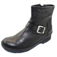Wolky Women's Nitra Wp In Black Waterproof Leather